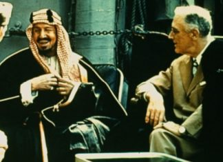 Roosvelt ve Suudi Arabistan kurucusu Abdülaziz bin Suud